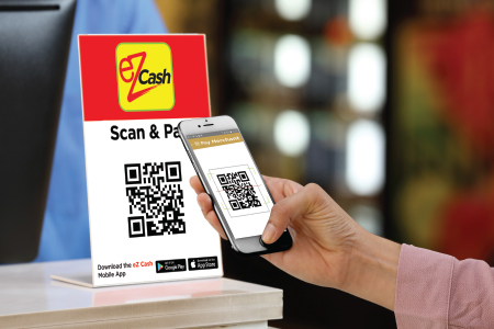 eZ Cash' Sri Lanka′s largest Mobile Money and Payments Service enables Smart and Super Convenient ′Scan & Pay′ QR Functionality